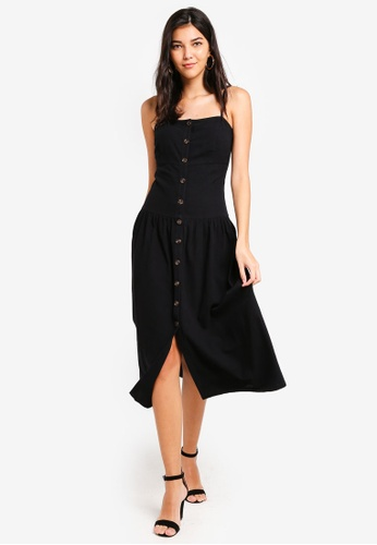 632fdf42aad Shop ZALORA Button Down Cami Midi Dress Online on ZALORA Philippines