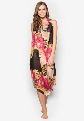 Milly 繞脖印花雪紡沙灘裙, 服飾, 泳裝及沙esprit outlet 香港灘造型