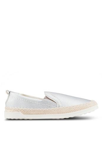 Carlton London 銀色 金屬感懶人鞋 B4390SH0492EFBGS_1