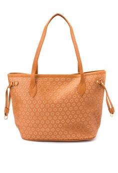 Samantha Eyelet Tote Bag