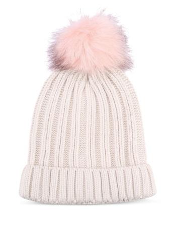 Buy Miss Selfridge Cream Fur Pom Beanie Online on ZALORA Singapore 806145a0cb0