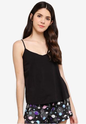 Supre black Cotton Sleep Cami Top C7EACAA75027F6GS_1