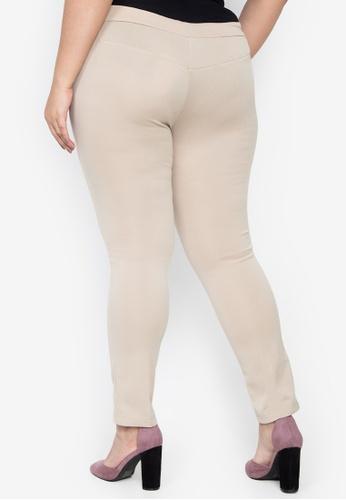 f8f7d64decc Shop Curvy Plus Size Dionne High Rise Plain Bodycon Leggings Online on  ZALORA Philippines