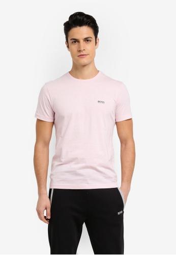 BOSS pink Jersey Tee - Boss Athleisure 0605EAA57231DBGS_1