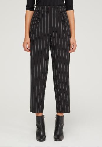 Sisley black High-waisted pants 206A9AABE08B7EGS_1