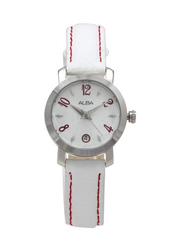Alba white ALBA Jam Tangan Wanita - White Silver - Leather Strap - AXT083 8BA29AC3205A3AGS_1