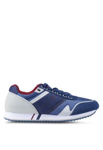 Superdry blue Fero Runner Trainers 0C934SHDE38103GS_1
