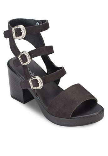 Neigh 扣zalora 折扣碼環厚底粗跟涼鞋, 女鞋, 鞋