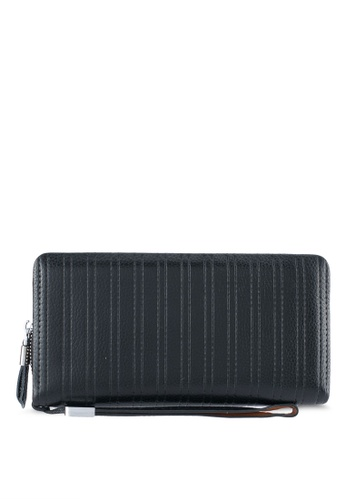 ZALORA black Leather Oversized Wallet D6691ZZ1DDC4A1GS_1