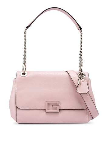 Guess pink Blane Flap Shoulder Bag AA173ACC24C4C9GS_1