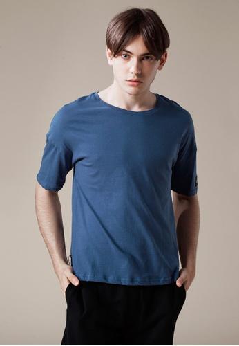 Life8 藍色 Casual 輕涼純棉 多色五分袖圓領T-03868-藍色 LI216AA09PLATW_1
