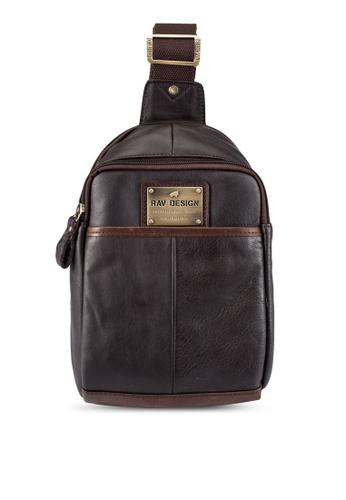 RAV Design brown Leather Chestbag RA113AC0RW3YMY_1