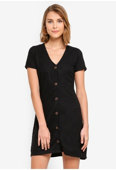 78d03ce0d05 Cotton On black Marlow Button Through Mini Dress 46F73AA4D79206GS 1