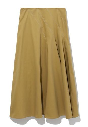 b+ab yellow Half pleated skirt 4AC86AA4D940FBGS_1