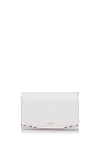 BONIA grey Light Grey Raffia Twist Three Fold Wallet 6C9A6ACCBA6D79GS_1