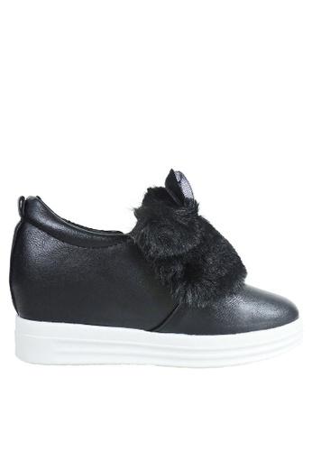 Jacque black Bunny Sneaker (Added Height) JA262SH63ALGMY_1