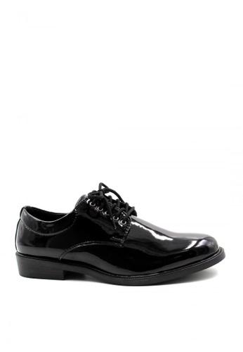London Fashion black Leather Shoes 2123-1-39  LO229SH67NZWPH_1
