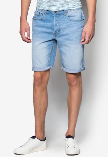 水洗彈性丹寧短褲,esprit台灣outlet 服飾, 短褲