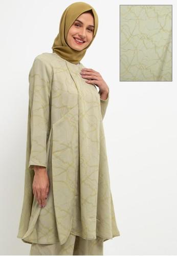 Kami for ZALORA green Akari Tunic 80970AAA7BFF22GS_1