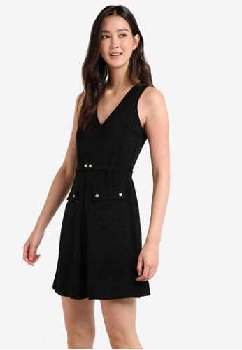 ZALORA black Utility Fit & Flare Dress 07998AA8DA5872GS_1