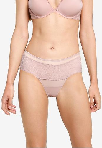 Calvin Klein pink Hipster Lace Panties - Calvin Klein Underwear 98CD9USB9B81FBGS_1