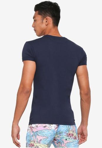 909a8fb39c0 Buy Topman Navy Ultra Muscle Roller T-Shirt Online on ZALORA Singapore