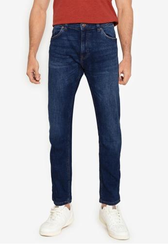 Springfield blue Medium-Dark Wash Slim Fit Jeans 86441AA8940C66GS_1