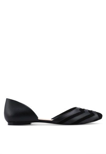 OCEEDEE black Carole Flats 350F8SH5535B4BGS_1