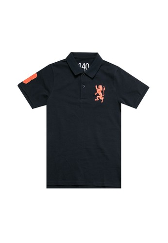 Giordano navy 3D Lion Polo Shirt 63FC1KA96B9543GS_1