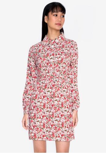 ZALORA BASICS multi Smocked Waist Shirt Dress 26731AA1ABF565GS_1