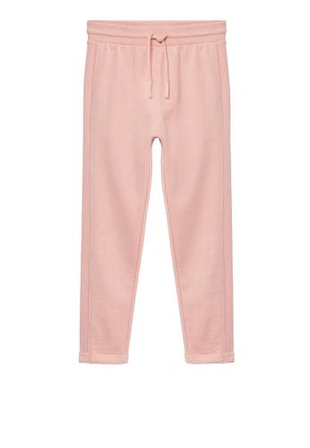 MANGO KIDS pink Organic Cotton Jogger Trousers AC968KAFFDCE83GS_1
