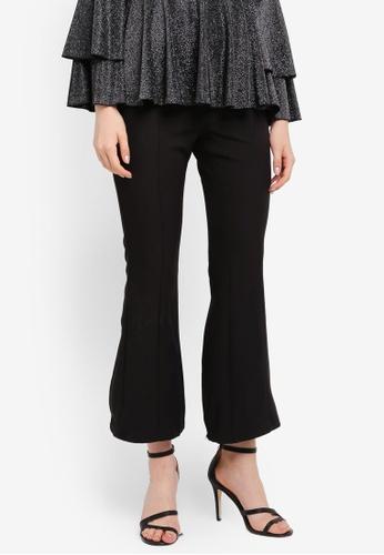 Zalia black Tiered Lace Frill Flare Pants D8A52ZZABFEF0FGS_1