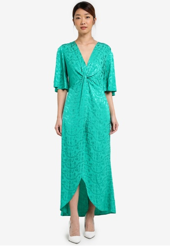 Miss Selfridge green Green Jacquard Dress MI665AA0T08YMY_1