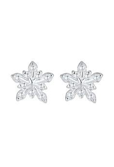 Elli Germany 耳環 Snowflake Winter Zirconia 925 銀