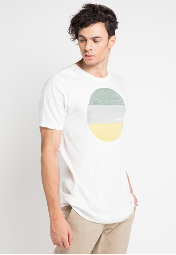 hurley white and multi Circular Pt Ss T-Shirt 99896AA42959F9GS_1