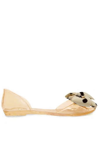 Twenty Eight Shoes Waterproof Pointed Bow Jelly Flats VY1862 TW446SH45KDUHK_1