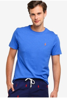 135f0743 Polo Ralph Lauren blue Short Sleeve Crew Neck Slim T-Shirt  0989AAAA0FB8DAGS_1