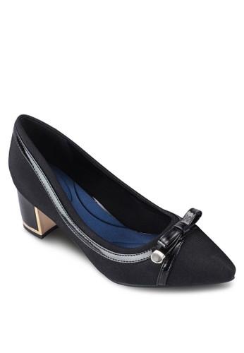 蝴蝶結飾尖頭粗跟鞋, 女鞋, esprit專櫃鞋