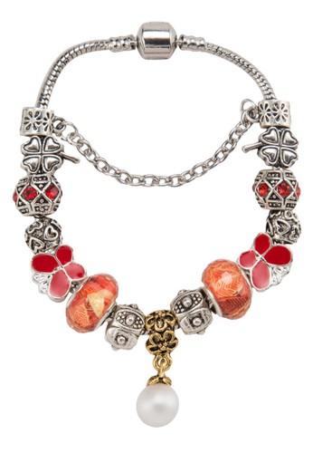 珍珠吊飾彩珠刻紋esprit 內衣手環, 飾品配件, 手鐲 & 手環
