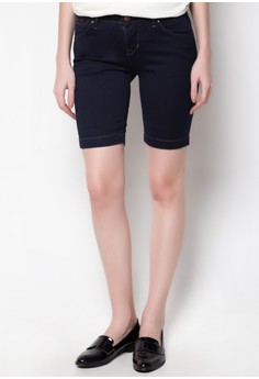 Low waist Nine Inch Denim Shorts