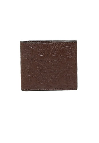 Coach brown Coach Mens Coin Wallet In Signature Crossgrain Leather (F75363) Mahogany 53B36ACA337473GS_1