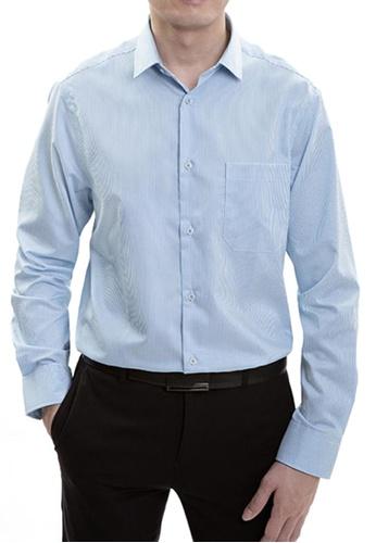 Goldlion blue Goldlion Nanotech Wrinkle Free Long-Sleeved Shirt B84F8AA5F1A300GS_1