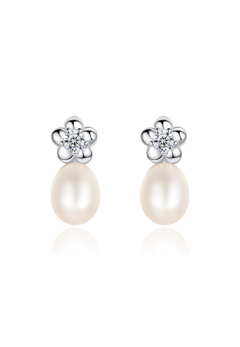 A.Excellence white Premium White Pearl Elegant Earring 70CF7AC1B414AAGS_1