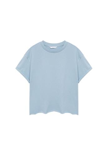 MANGO KIDS blue Organic Cotton Essential T-Shirt 16763KA975C182GS_1
