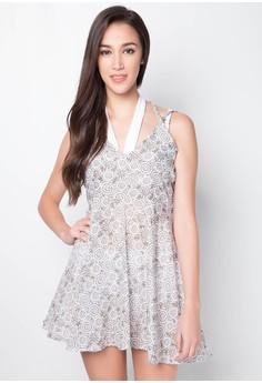 Print Strappy Short Dress