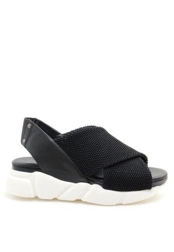 PRODUIT PARFAIT 黑色 交叉帶運動涼鞋 37150SH24CC335GS_1