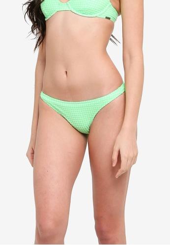 Billabong green Surf Check Tropic Bikini Bottom 73C2CUSA23AC18GS_1