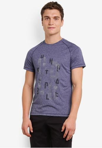 Odlo blue Aion Short Sleeve T-Shirt OD608AA0S13NMY_1