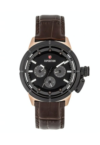Expedition brown Expedition Jam Tangan - Brown Rosegold Black - Leather Strap - 6765 BFLBRBA 61B3DACD592C26GS_1