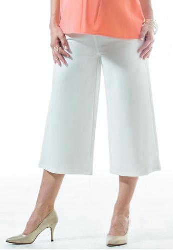 Bove by Spring Maternity white Woven Celinda High Waist Cullote Pants (IB4701) BO010AA30NWBSG_1